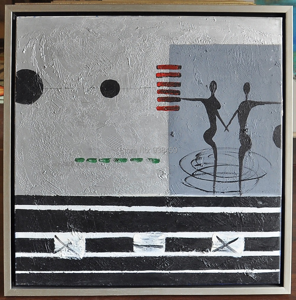 53Hand Painted Abstract African Oil Painting with frames Modern Wall Art Pictures for Home Decoration