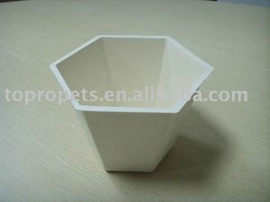 biodegradable flower pot,sugar cane pulp flower pot