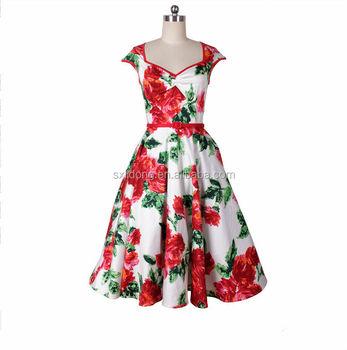 Retro Swing Dress Vintage 40s 50s Style Swing Jive Rockabilly Pinup ...