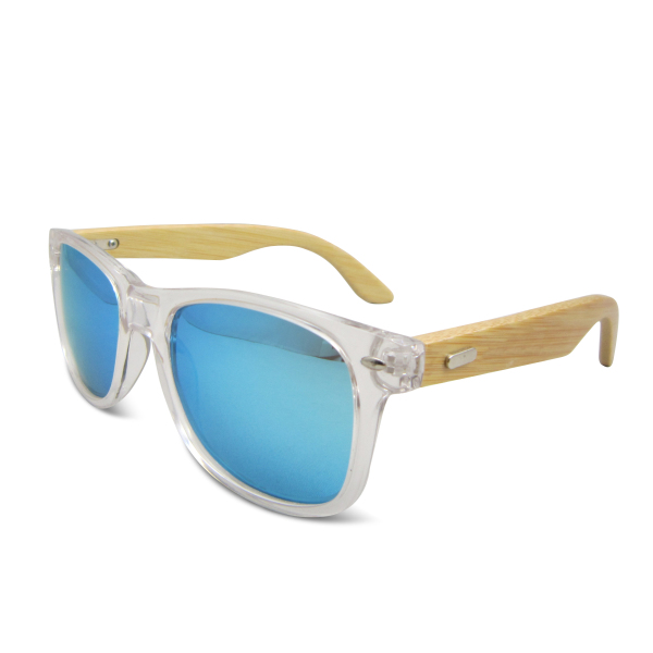 New fashional wholesale transparent plastic frame wooden arms sunglasses