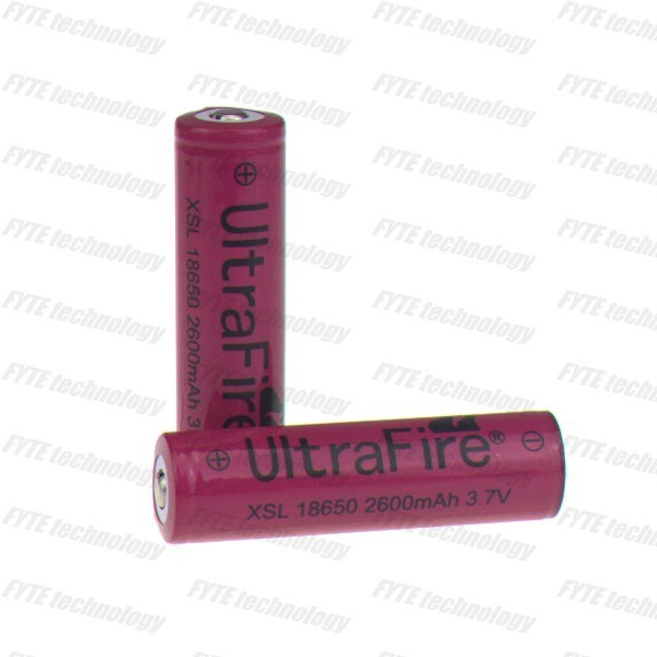 Flat battery pack rechargeable li ion battery 18650 3.7v 2600mah Ultrafire XSL