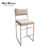 Silver base stainless steel frame modern light grey bar chair velvet