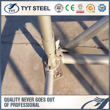 Supply 48X3.25mm High Grade Q345 Hot Dip Galvanized Ringlock Steel Scaffolding/ringlock system standard