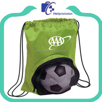Colorful 210D polyester mesh sports ball storage bag
