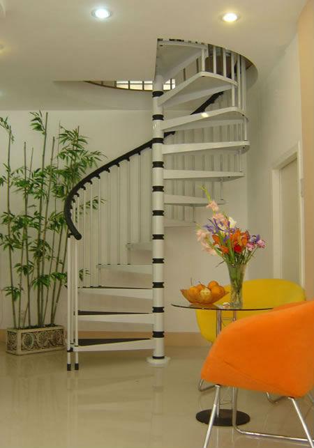 Madera De Acero Espiral Escaleras Prefabricadas Para Casas Modernas ...