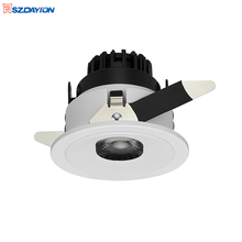 75mm 13w 라운드 알루미늄 <span class=keywords><strong>플라스틱</strong></span> Led Dimmable 천장 조명