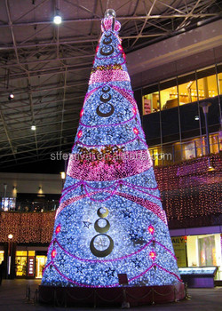 New style 30 feet big christmas trees for shopping centre