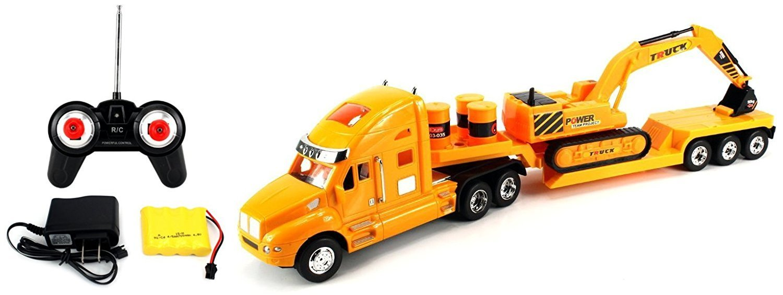 Buy Heavy Construction Semi Trailer Remote Control Rc Semi Truck