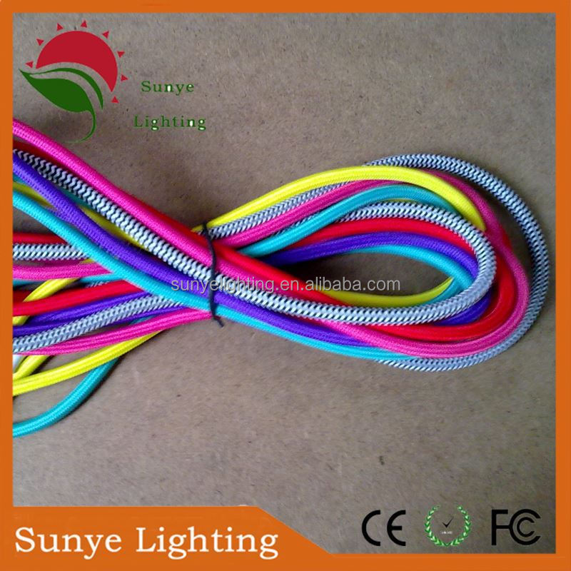Textile cord with lamp holder,switch,plug in ceiling light