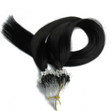 Charmant Grade 7A Straight Micro Loop Real Mink <span class=keywords><strong>Braziliaanse</strong></span> <span class=keywords><strong>Haar</strong></span>, 100% Virgin Remy Human Haarverlenging