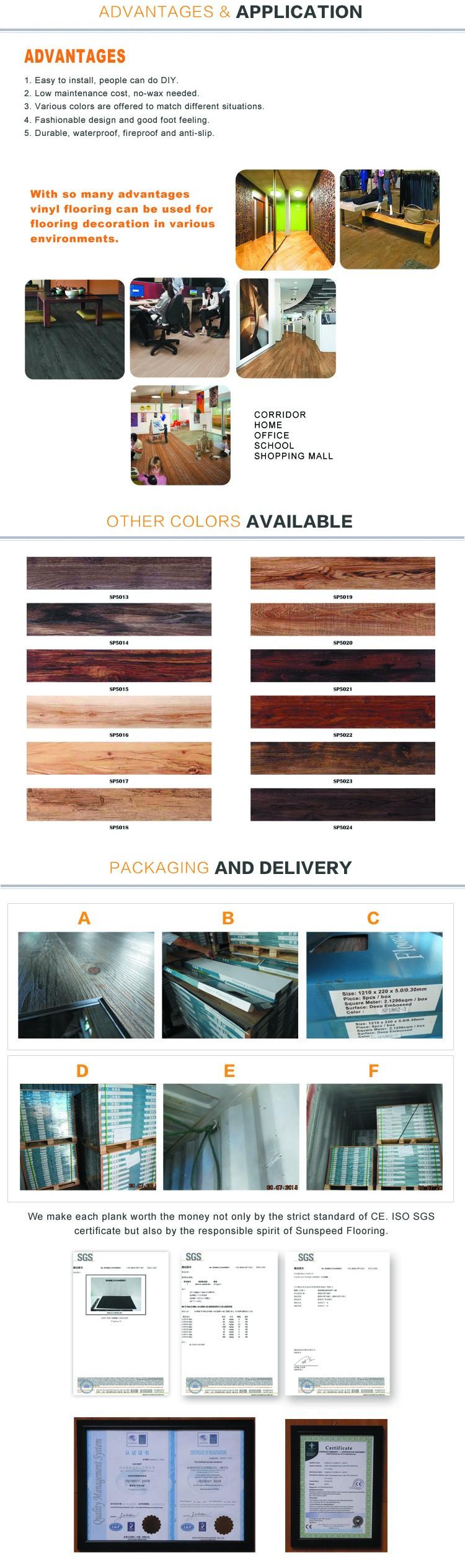 installation de revêtement de sol en bois