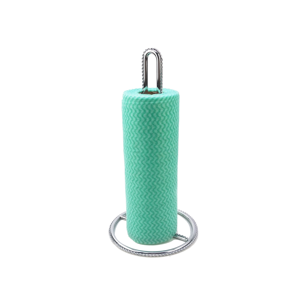 Standing Metal Iron Kitchen Bathroom Toilet Tissue Paper Roll Holder