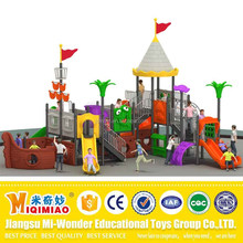 2017 hot selling plastic corsair pirate ship type outdoor adventure playground equipment