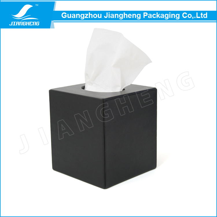 High quality tissue box leather packaging box