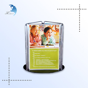 Lovely design 4 side desktop decoration children photo acrylic display stand