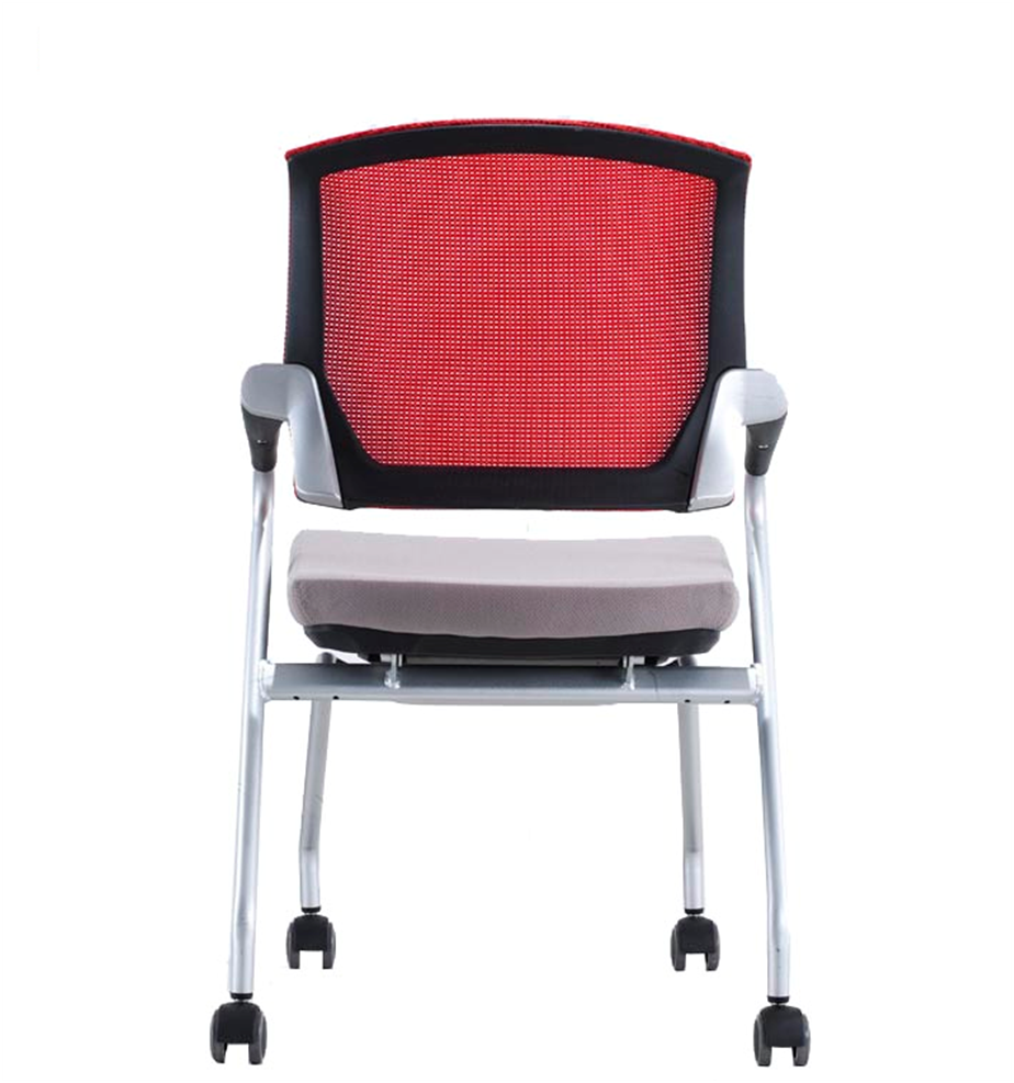 Low price breathable stacking plastic office meeting reception visitor  chair with armrest