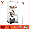 Wooden and Glass 3 shelves handbags Countertop Display Case with lock