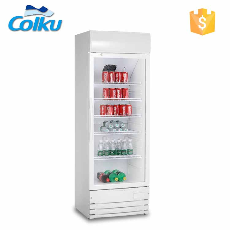 Foshan Colku Outdoor Upright AC DC Solar Powered 290L Mini Glass Door Fridge