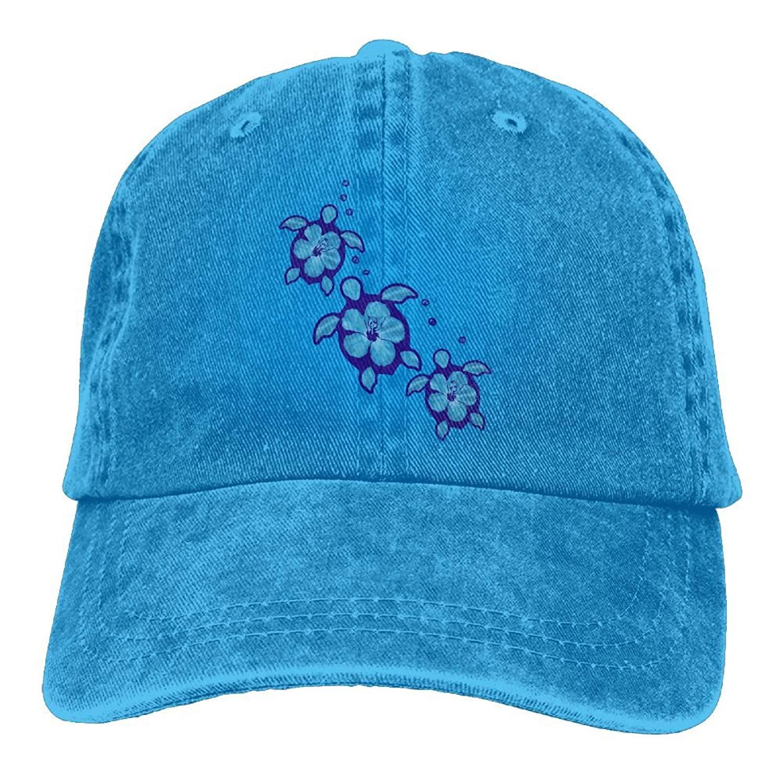 Get Quotations · 2018 Adult Fashion Cotton Denim Baseball Cap Blue Honu  Hibiscus Turtles Classic Dad Hat Adjustable Plain 541464e5c998