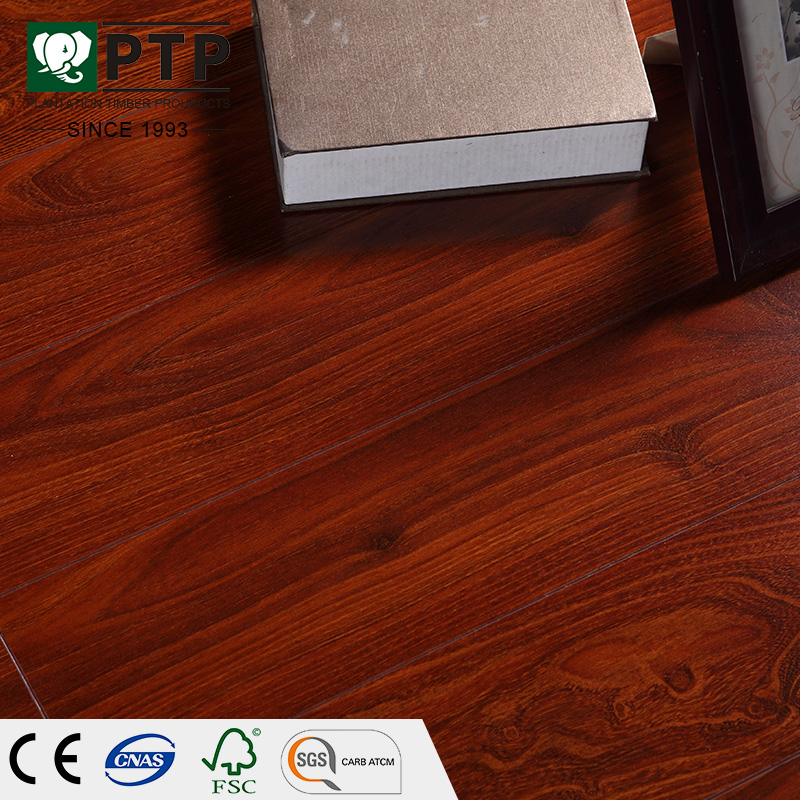 Germany Technology ac5 half white .8mm 12mnm matt laminate walnut wood flooring v shape