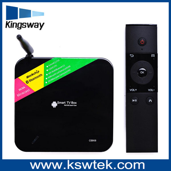 Hot selling RK3188 quad core android tv box with sim card