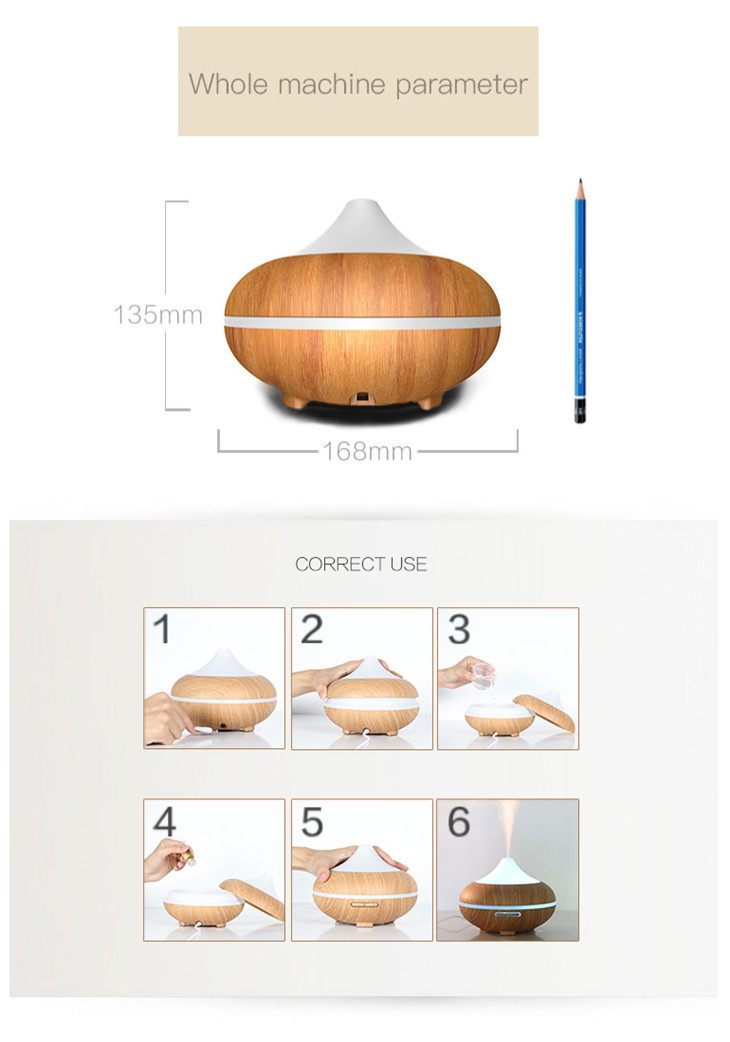 Asian Hot Desktop Air Humidifier,500ml Battery Wireless 500ml Air Innovations Humidifier Diffuser with Lower Price