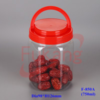 850ml clear hexagonal plastic tub jars, plastic peanuts seeds container, empty airless pet dry fruits jar wholesale