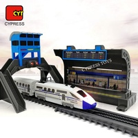 Indoor Slot Power Race Track Train Railway Toy Electric Toy Train Set