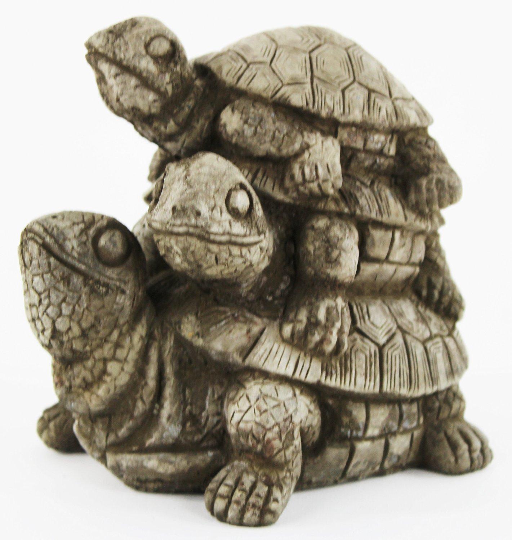 Turtles Stack Concrete Garden Statue Cast Stone Tortoise Sculpture
