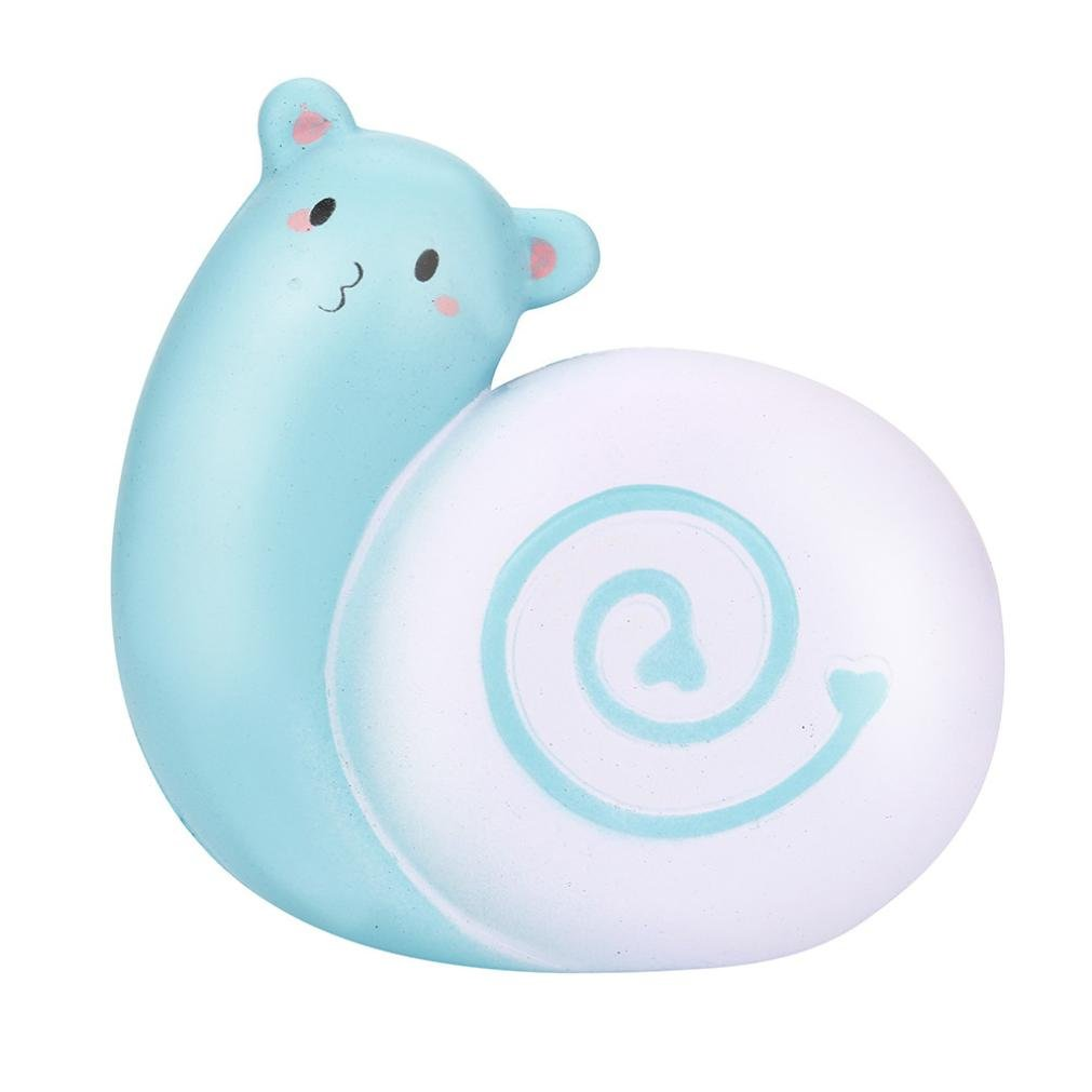 E-SCENERY 12cm Jumbo Cute Love Snail Squishy Toys, Squishies Stress Toys Squishy Kawaii Squishy Stress Reliever Anxiety Toys Slow Rising Cream Scented Toy For Children Adults (Blue)
