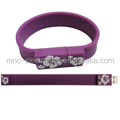 Promotional Wholesale Colorful Custom Silicone usb Wristband 4gb Flash Drive with Free Sample