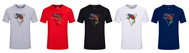 Последние Новые модные дизайн Хамелеон печати полиэстер хлопок Пользовательские дизайн для мужчин S Серый футболка Топы корректирующие для
