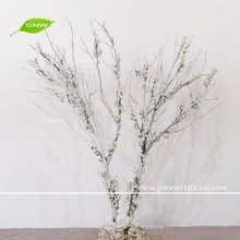 GNW BLS1607008-WT white dry tree branches with cherry blossom for decoration winter tree