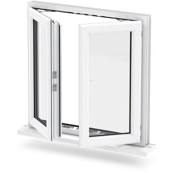 Vers Lextérieur Ouverture à Double Vitrage En Aluminium Fenêtre à