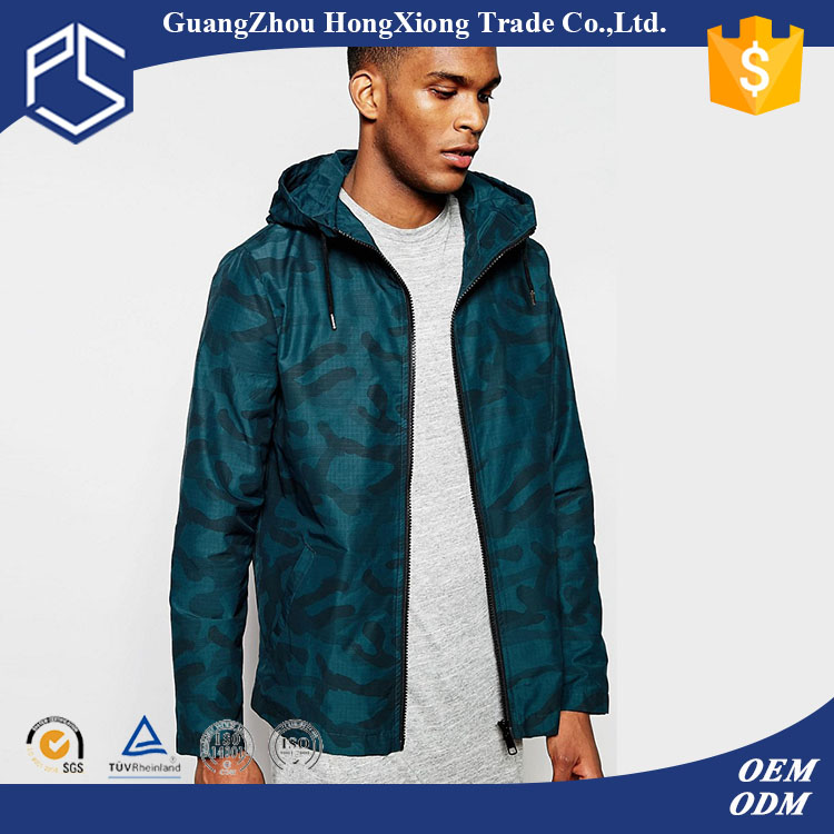 Guangzhou Hongxiong OEM Design Your Own Warm Button Front Side Pockets Embroidery Logo Dark Blue Custom Men Nylon Coaches Jacket