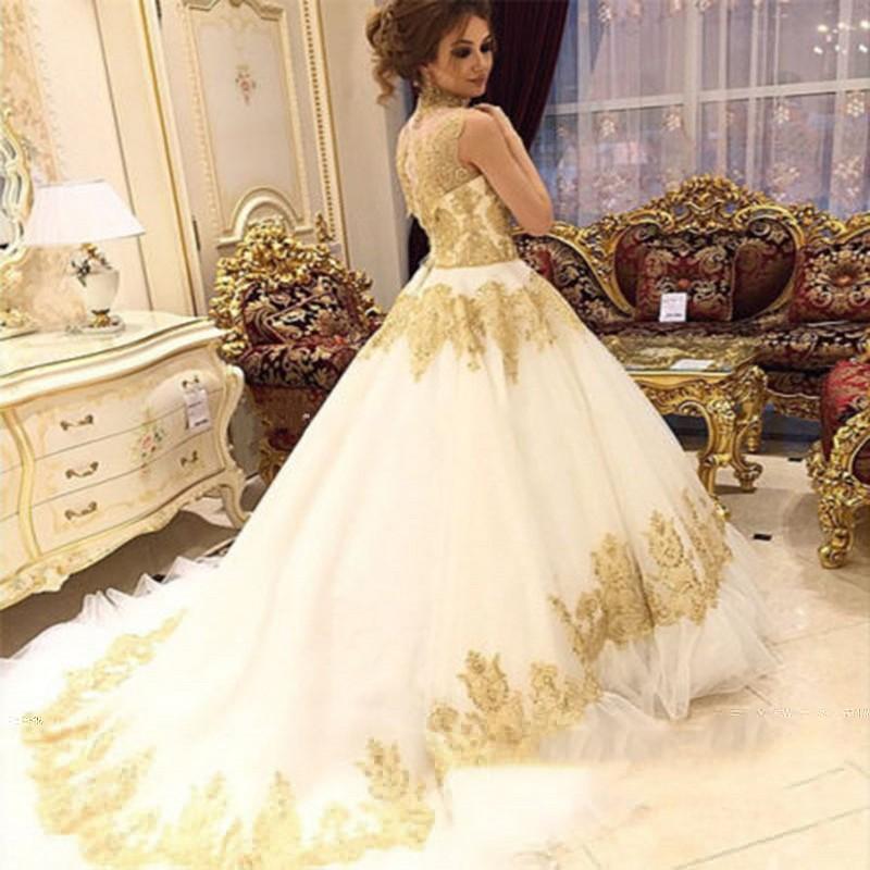Großhandel vintage hochzeitskleid gold Kaufen Sie die besten vintage ...
