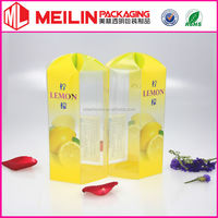 good quality rhombus fruit packaging box clear pvc box transparent PET boxes