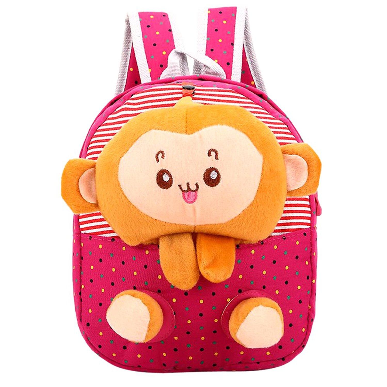 3730df2a675 Get Quotations · MNBS Children Preschool Animal Cartoon Bags Baby School  Backpacks Toddler School Bags Pink