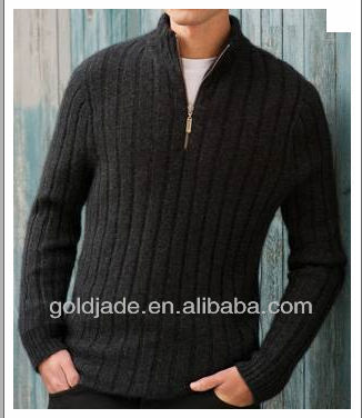 2013 latest half zipper wool sweater