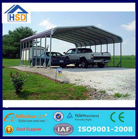hot sale low cost metal frame 2 car metal carport