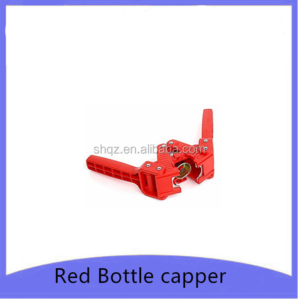 Red Color Manual Beer Bottle Capper