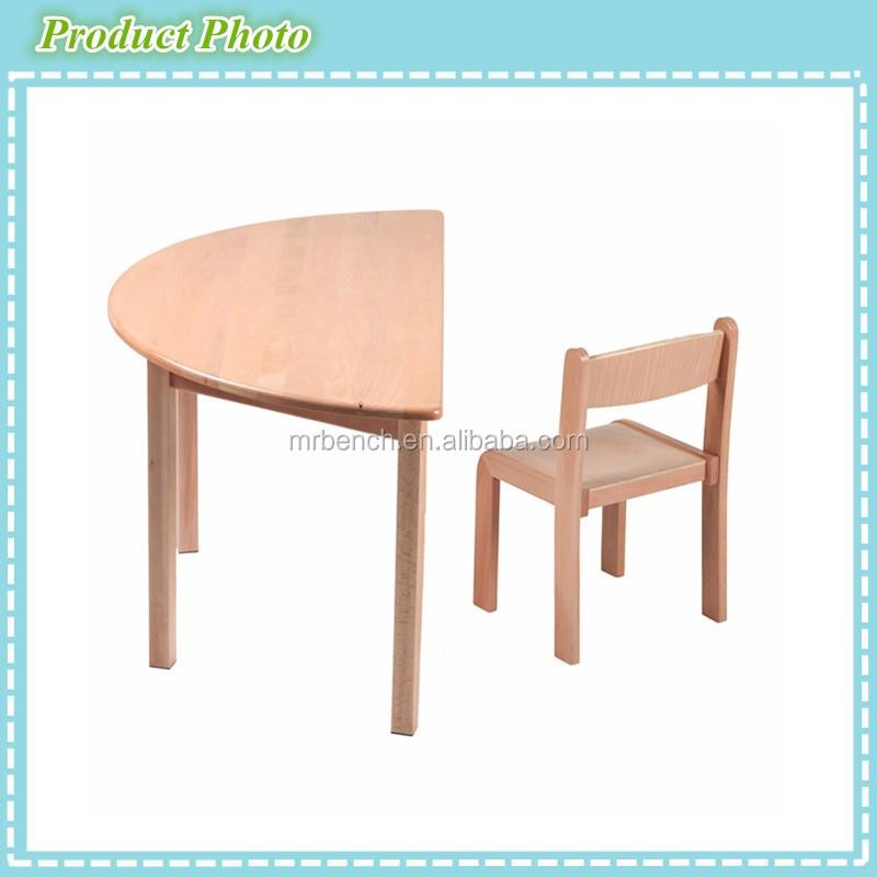 Belle Qualite Meubles Decole Maternelle Hetre Bois Enfants Etude Table Demi