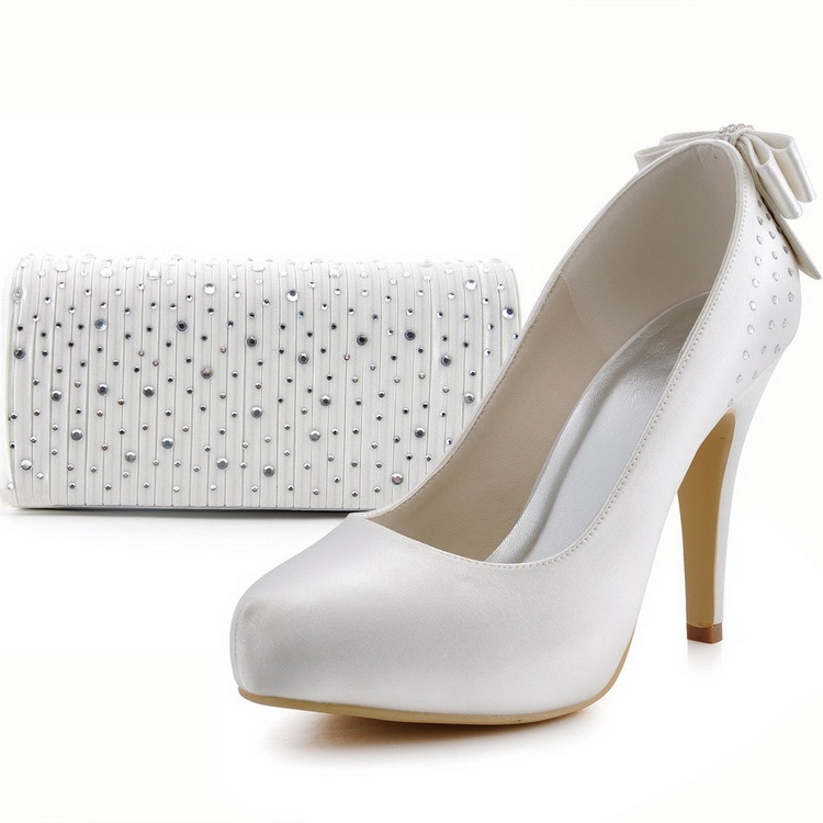 Popular Ivory Wedding Shoes With Rhinestones-Buy Cheap