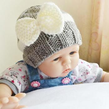 Crochet Newborn Hats Baby Girl Bow Stripe Hat For Baby Hospital