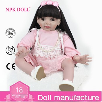 NPK Rambut Panjang Gadis Boneka Putri Boneka Manusia Hidup Realistis Reborn Bayi  Boneka 24 inch Besar db3187e39d
