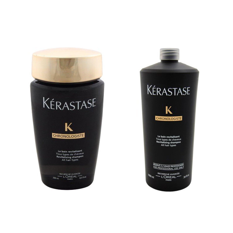 Bundle 2 items: Kerastase Chronologiste Revitalizing Shampoo, 8.5 Oz & Chronologiste Revitalizing Shampoo, 34 Oz