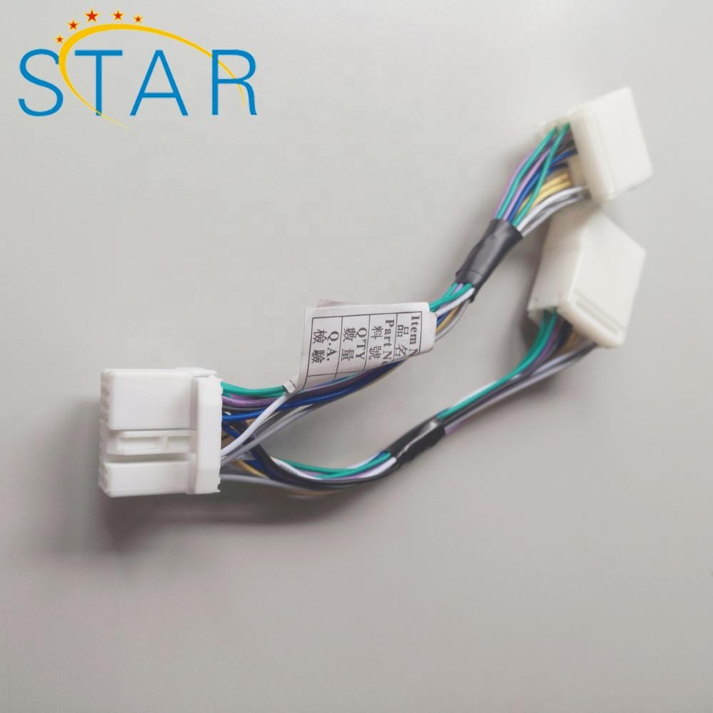 14 Pin Automotive Connector Male To Y Splitter Cable Wiring Harness Honda Civic Wiring Harness Connectors Automotive on