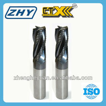 2016 NEW ZHY CTX Tungsten Carbide 4 Flutes Serrated Cutter end mill