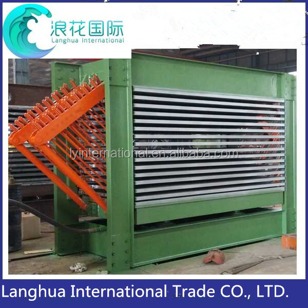 High safety factor hot press type wood veneer dryer