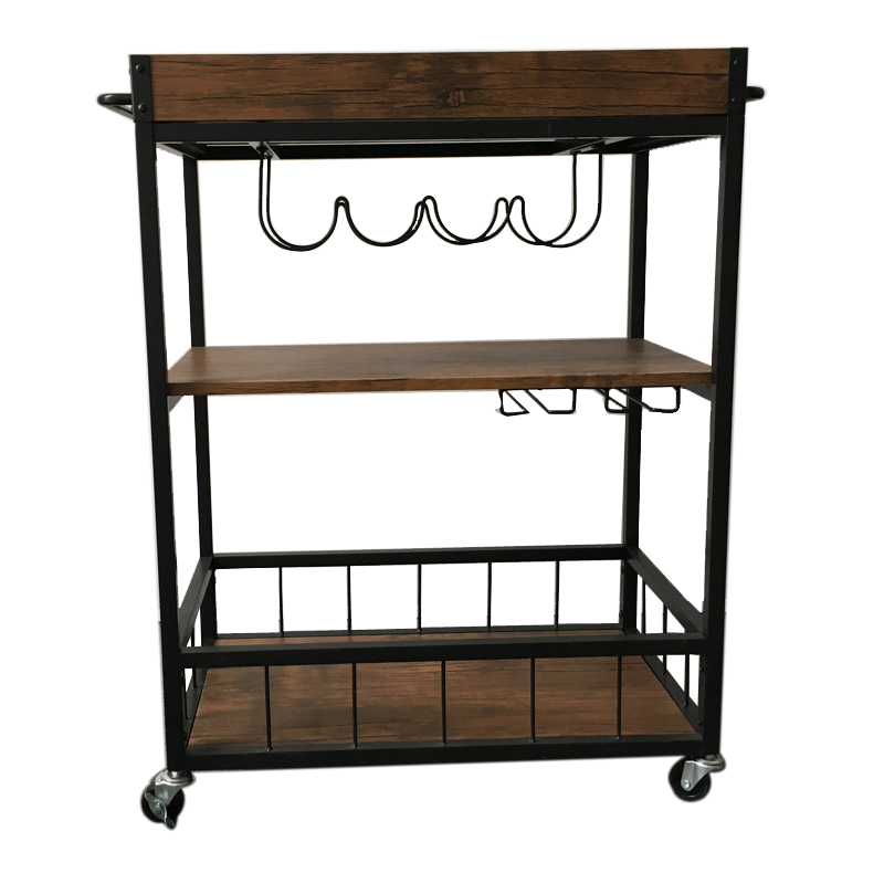 Good Price Restaurant Mini Bar Design Wooden Mobile Dining Room Wine Beer  Tea Food Service Serving Hand Cart Pallet Trolley   Buy Service  Trolley,Room ...